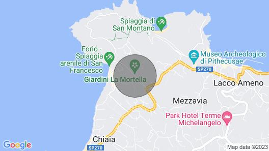 Luxusvilla mit Heißen Panorama-rohren in Ischia, Nahe der Amalfiküste Map