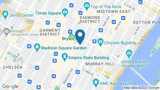 Courtyard by Marriott New York City Manhattan Fifth Avenue Map