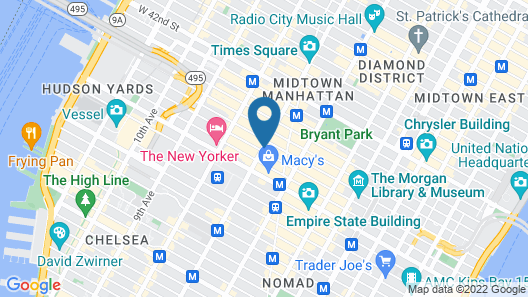 Moxy NYC Times Square Map