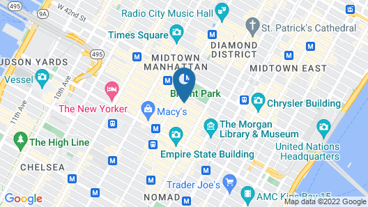FABE Suites Times Square Map