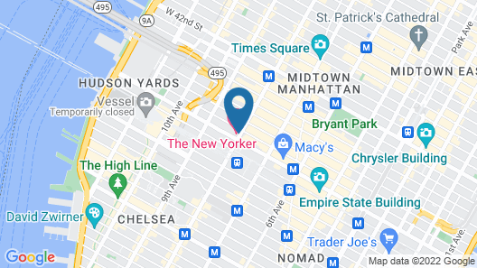EC New Yorker Student Residence Map