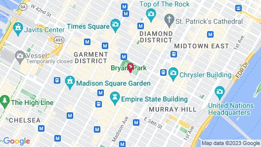 Park Terrace Hotel on Bryant Park Map