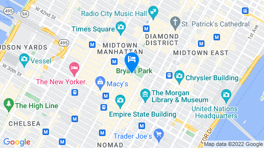 The Bryant Park Hotel Map