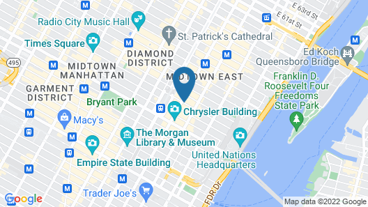 Club Quarters Hotel, Grand Central Map