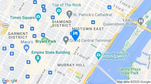 Club Quarters Hotel, Grand Central Map