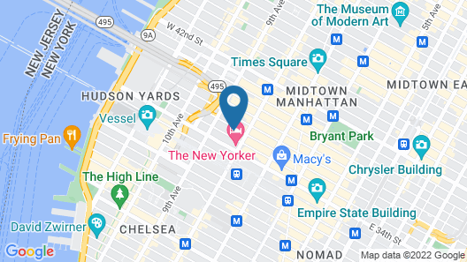 Crowne Plaza HY36 Midtown Manhattan Map