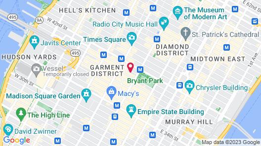 LUMA Hotel Times Square Map