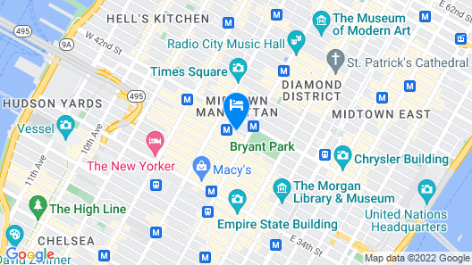 LUMA Hotel Times Square Map