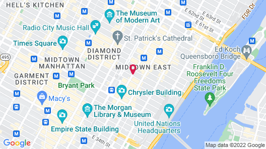 The Roger Smith Hotel Map