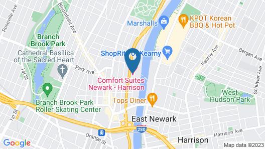 Comfort Suites Newark - Harrison Map