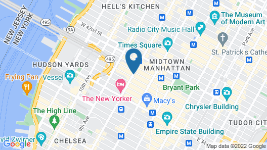 Holiday Inn New York City - Times Square Map