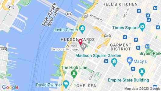 Equinox Hotel New York Map