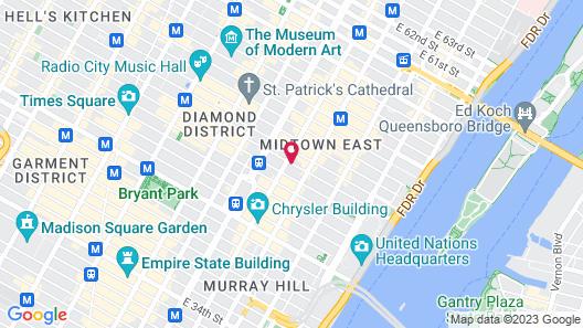 Residence Inn by Marriott New York Manhattan/Midtown East Map