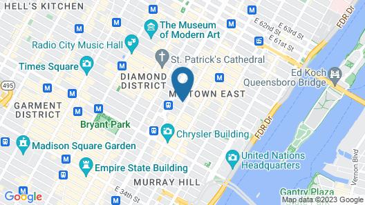 InterContinental New York Barclay Map