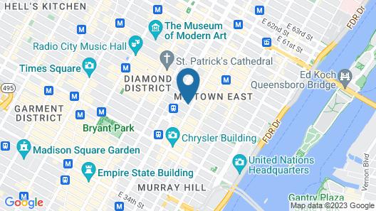 InterContinental New York Barclay, an IHG Hotel Map