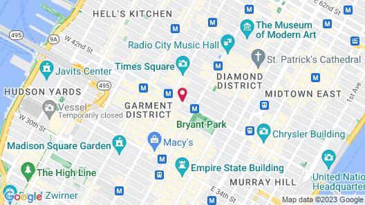 Hilton Garden Inn New York-Times Square Central Map