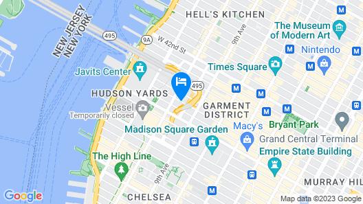 Hudson River Hotel Map