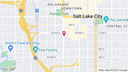 SpringHill Suites by Marriott Salt Lake City Downtown Map