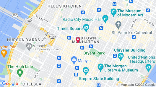 Hotel Shocard at Times Square Map