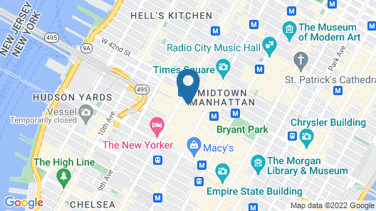 AC Hotel by Marriott New York Times Square Map