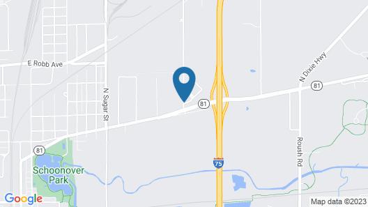 Comfort Inn Lima Map
