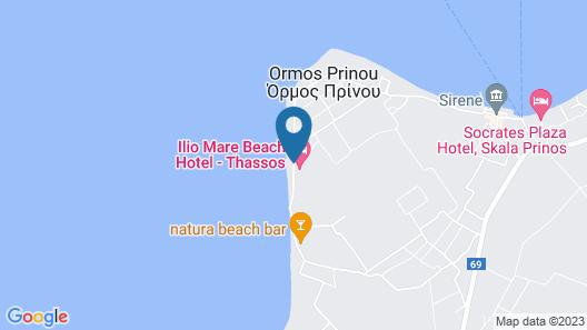 Ilio Mare Resort Hotel Map