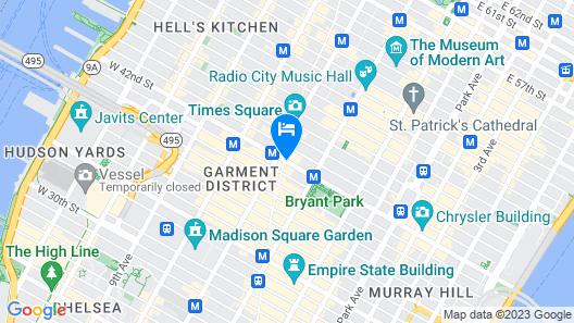 The Knickerbocker Hotel Map