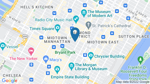 Citadines Connect Fifth Avenue New York Map