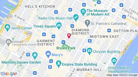City Club Hotel Map
