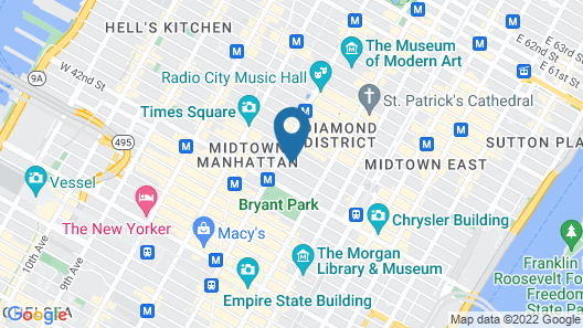 City Club Hotel Map