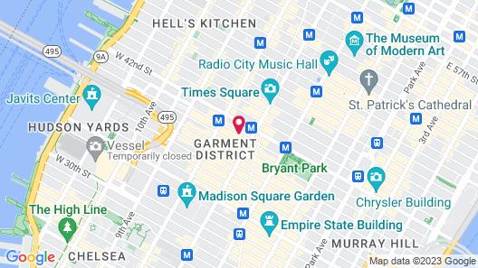 Hampton Inn Manhattan/Times Square Central Map