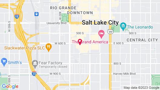 Quality Inn Downtown Map