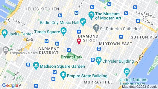 Club Quarters, Times Square - Midtown Map
