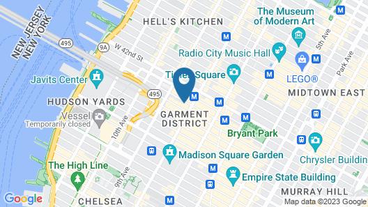 Aliz Hotel Times Square Map
