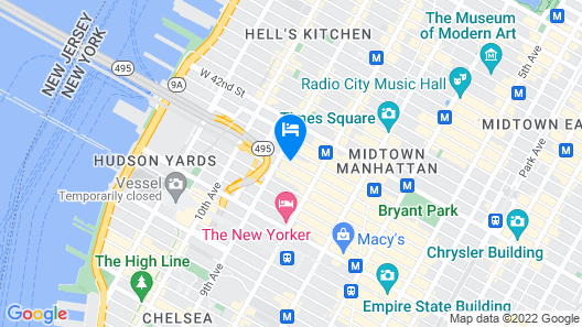 Holiday Inn Express New York City Times Square Map