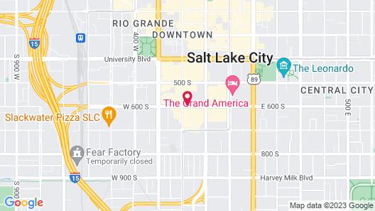 Motel 6 Salt Lake City, UT - Downtown Map