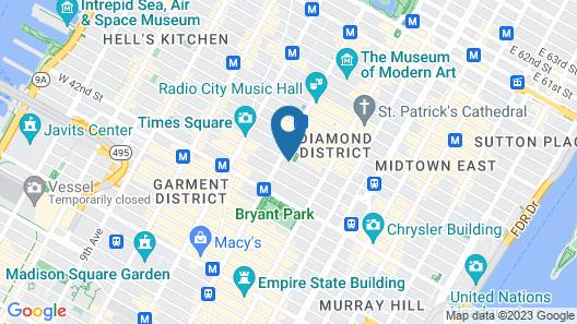 Cassa Hotel NY 45th Street Map