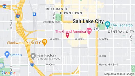 Hilton Garden Inn Salt Lake City Downtown Map