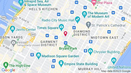 Hotel Mela Times Square Map
