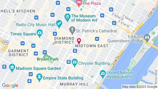 Waldorf Astoria New York Map