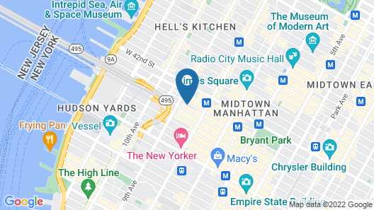 Distrikt Hotel New York City, Tapestry Collection by Hilton Map