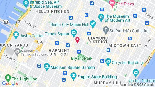 Millennium Premier New York Times Square Map