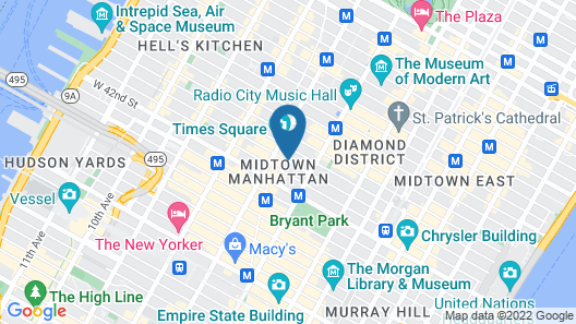 Millennium Hotel Broadway Times Square Map