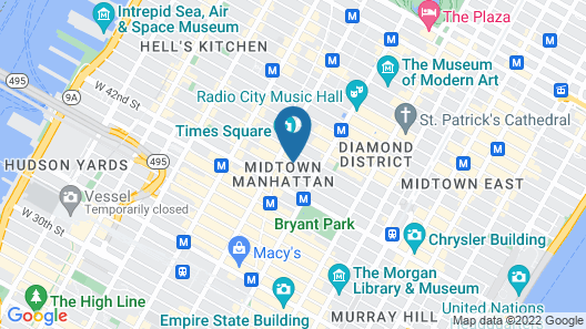 DoubleTree by Hilton Millennium Times Square New York Map