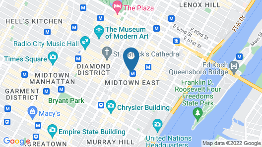 DoubleTree by Hilton Metropolitan - New York City Map