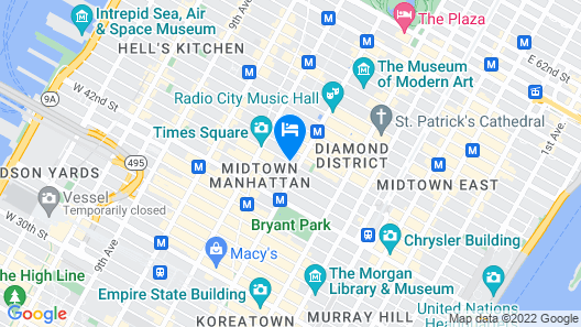 Hotel St. James Map