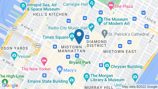Merrion Row Hotel and Public House Map