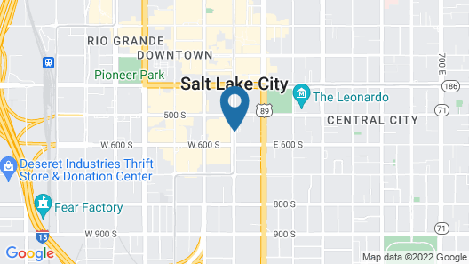 The Grand America Hotel Map