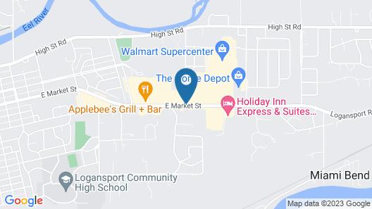 Super 8 by Wyndham Logansport Map