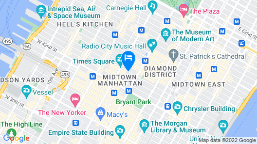 Hyatt Centric Times Square New York Map